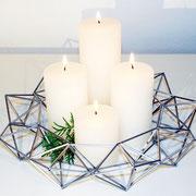 Himmeli No. 4 / wreath ( Kranz mit Kerzen)