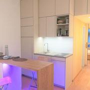 Appartementplanung, Küche nach Fertigstellung, Atelier Feynsinn, Rolf Kullmann, Innenarchitkt Köln