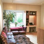 Appartementplanung, Wohnraum nach Fertigstellung, Atelier Feynsinn, Rolf Kullmann, Innenarchitkt Köln