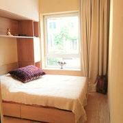 Appartementplanung, Schlafraum nach Fertigstellung, Atelier Feynsinn, Rolf Kullmann, Innenarchitkt Köln