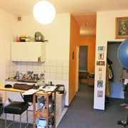 Appartementplanung, Küche Vorher, Atelier Feynsinn, Rolf Kullmann, Innenarchitkt Köln