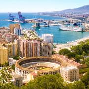 Ref. 387 (Plaza de toros y puerto de Málaga)