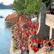 Oranje Fans in Basel Europameisterschaft 2008 in der Schweiz
