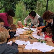 atelier teinture végétale avec des maternelles@les_jardins_de_koantiz