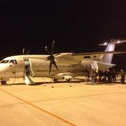 Das Flugzeug am Manchinger Airport