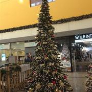 Weihnachtliche Stimmung im Einkaufszentrum in Györ