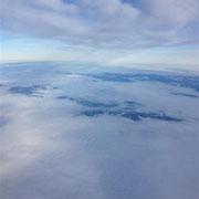 Der Rückflug über Österrreich