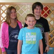 Podium individuel sections jeunes : Marie (3ème), Quentin (1er) et Lucas (2ème)