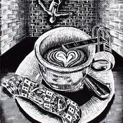 Koffiesprong / 1 van drieluik