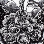 Cupcakeklim / 2 van drieluik