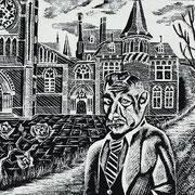Bonifatiuskerk met Pieter Jelles Troelstra / Leeuwarden