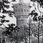 De oude watertoren, Leeuwarden (Schrans / Zuiderplein).