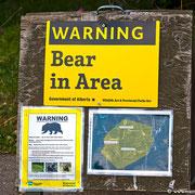 Bärenwarnung in Alberta