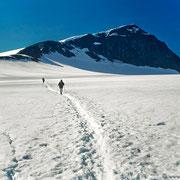 Unterwegs am Gletscher