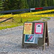 Schlecht gelaufen: Bärenwarnung und gesperrter Trail!