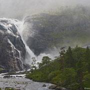 Nykkjesøfossen, von der zweiten Ebene aus gesehen.