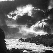 Tveitafossen - von hier startet die Tour zu den vier Wasserfällen. (Scan vom Dia)