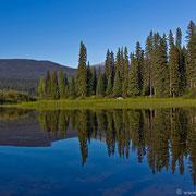 Bei diesem herrlichen Wetter darf man aber nie vergessen, dass der Bowron Lake auch ganz anders kann.