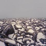 Beim Rückweg kommt Nebel auf und die Orientierung wird schwierig! (Alle Photos: Scan vom Dia)