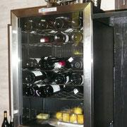 ワインの保管庫に、レモンも保存。