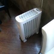 冬は、オイルヒーターでじんわり暖かい。