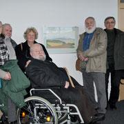 21. März 2013,  Besucher und Künstler Karl Späth im Kreishaus Luckenwalde