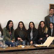 Muslimische Mädchengruppe aus Würzburg zu Besuch im Verein. 04/19