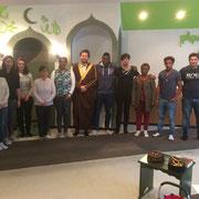 Moscheeführung in der bosnischen Gemeinde in Würzburg mit der Sprachschule Inlingua. 04/19