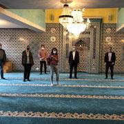 Tag der Deutschen-Einheit 2020 (Tag der offenen Moschee) - in der Neuen Moschee Kitzingen (Ditib) mit unseren beiden Vorständen Hamza Özkan und Michèl Schnabel und dem Imam Ismail Güler