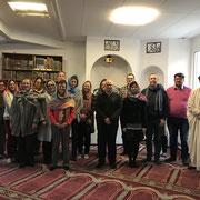 Besuch des Fernstudium-Seminars der Domschule Würzburg mit Dr. Ostermann  in der Moschee der IGW in Würzburg. 12/19