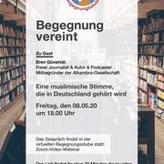 Begegnung vereint: Mit Eren Güvercin - Journalist & Mitgründer der Alhambra-Gesellschaft.