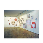 Corner Mirror pictures, circel paintings, oil on plywood, 1997.