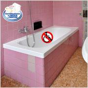 Vasca da togliere per realizzare un piatto doccia a filo pavimento per un facile accesso ai disabili