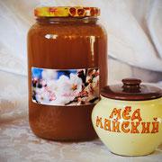 Мёд майский; 1,00 л – 1400 гр.