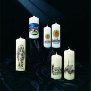 Foto- und bedruckte Kerzen