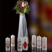 Hochzeits- und Jubiläumskerzen