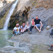 Our guests and Andreas are relaxing at the hot springs