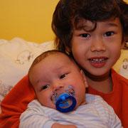 Unsere zwei Kinder - Aditya und Sophia