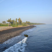 The black beach in Anyar