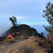 Camping on Mount Rinjani