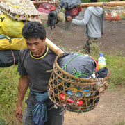 The porters carry all the equipment and food