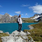 Hiking in Austria, Lünersee in Vorarlberg