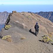 Der Weg vom Gipfel zum Camp zurück