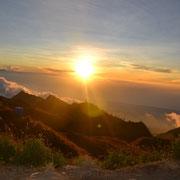 Der wunderschöne Sonnenuntergang