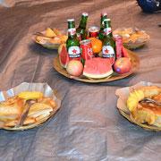 Ein großes Frühstück nach dem Gipfelsturm