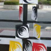 ■群れる[flock]2005捺染/反応染料 [silkscreen printing/reactive dyes]