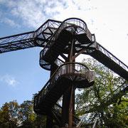 高さ18m、一周200mの Treetop walkway にはなんと鋼を400トン以上を使用したそうです