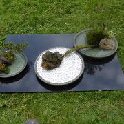 Ikebana vor Jap. Teehaus im Englischen Garten