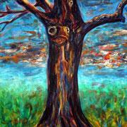 """""""Lebensbaum - Baummensch"""", Acryl auf Baumwolle, 80 cm x 100 cm, 2011"""