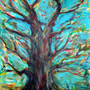 Eiche, Acryl auf Baumwolle, 80 cm x 100 cm, 2012